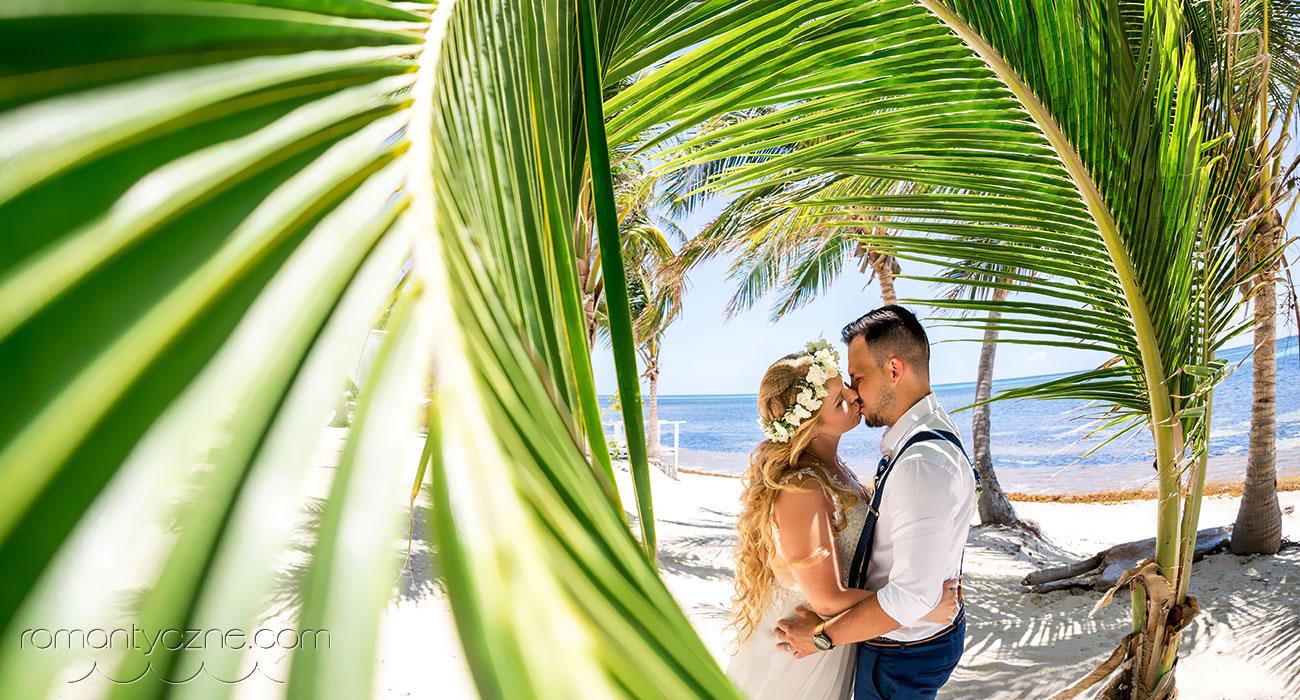 Romantyczna ceremonia na prywatnej plaży