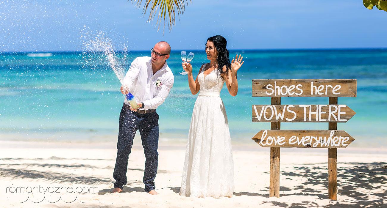Cudowny ślub na prywatnej plaży