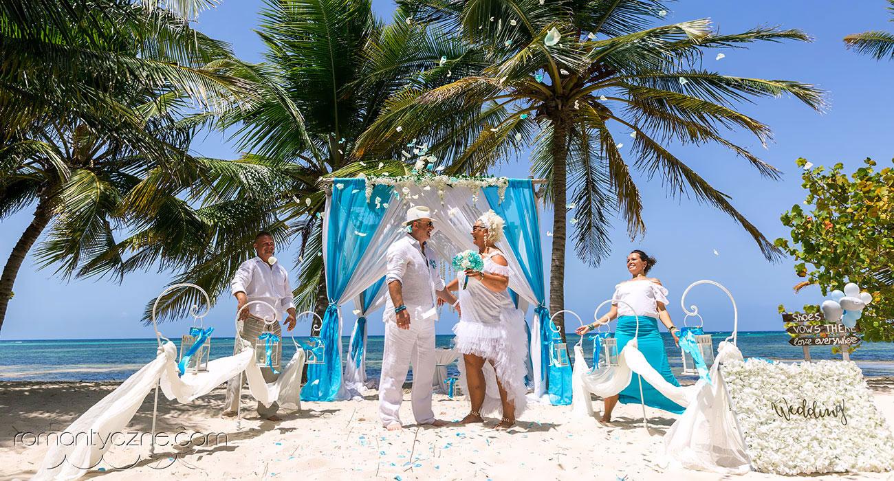 Karaibski ślub jak z bajki
