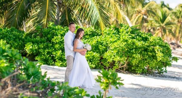 Ceremonie ślubne kolacja dla dwojga, tropikalne śluby