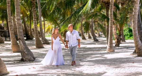 Spacer po plaży, wyspa Saona