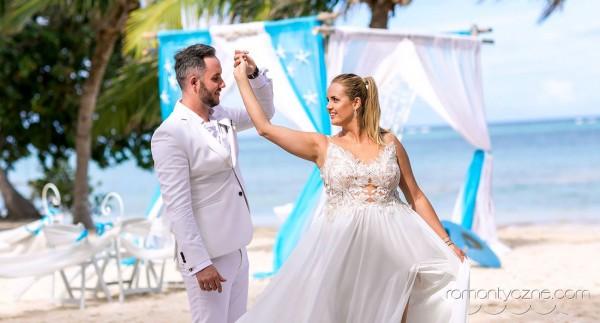 Karaiby, prywatna plaża dla nowożeńców