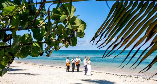 Ceremonia ślubna na plaży, wyspa Saona