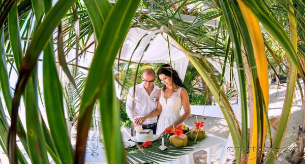 Ślub na prywatnej plaży, wyspa Saona
