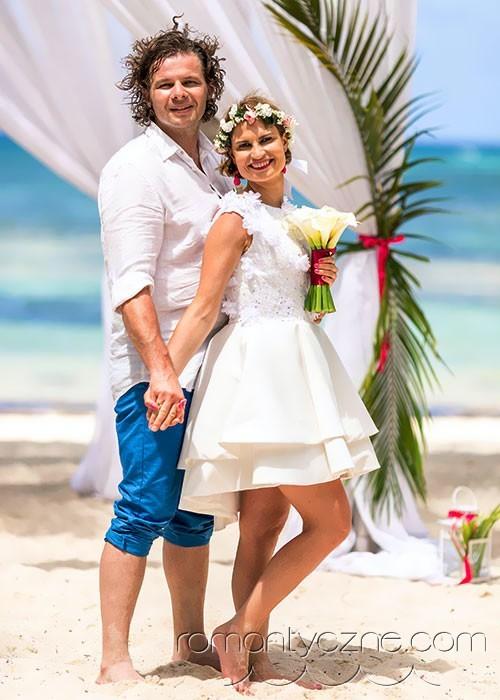 Młoda Para na tropikalnej plaży
