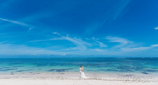 Śluby symboliczne na prywatnej plaży, tropikalne śluby