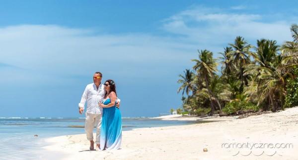 Śluby symboliczne na rajskiej plaży, tropikalne śluby
