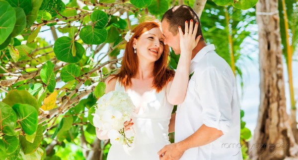 Śluby za granicą kolacja dla dwojga, tropikalne śluby