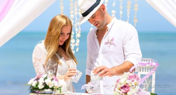 Ceremonia piasku, śluby w tropikach