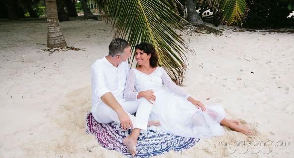 Śluby symboliczne na dominikańskiej plaży, tropikalne śluby