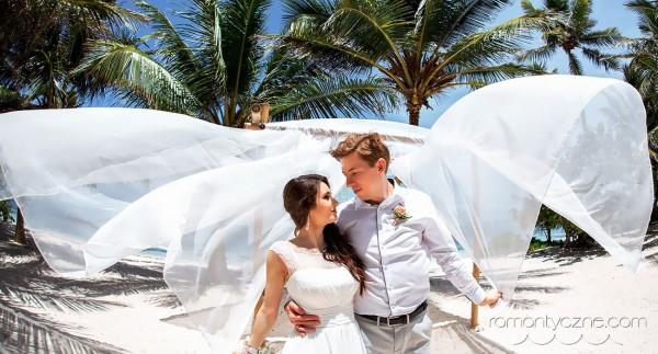 Nieszablonowy ślub na tropikalnej plaży, podróże poślubne na Karaibach