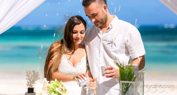 Ceremonia piasku, ślub na plaży