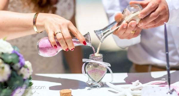 Ceremonia piasku, tropikalne śluby