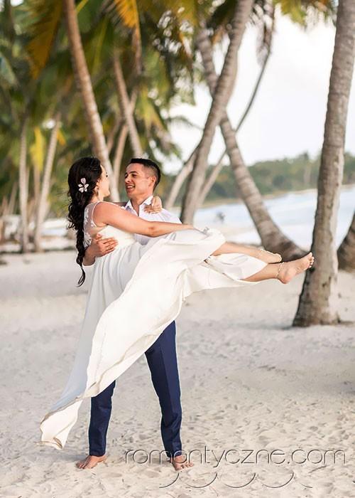 Ślub na rajskiej plaży