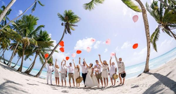 Ślub, wspólna zabawa na wyspie Saona