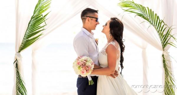 Ślub na wyspie Saona, wśród palm