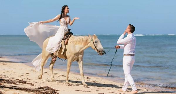 Nieszablonowy ślub na rajskiej plaży, zagraniczne podróże poślubne