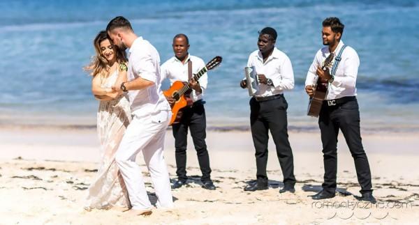 Śluby symboliczne kolacja dla dwojga, podróże poślubne na Karaibach