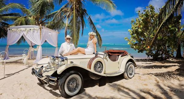 Romantyczne chwile, ślub na plaży