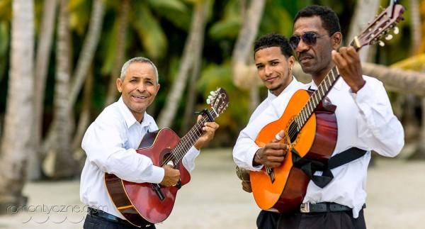 Ślub na plaży, Saona Island, zespół muzyczny