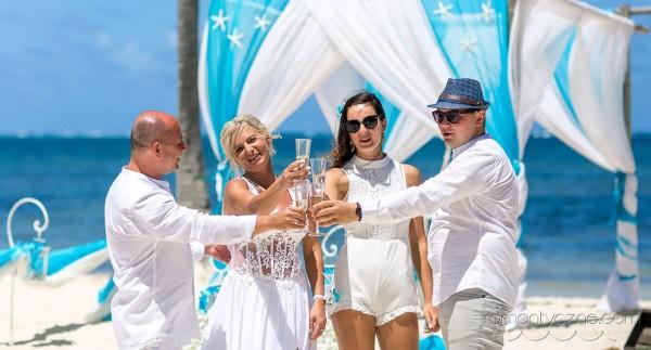 Śluby na plaży wśród palm, Dominikana