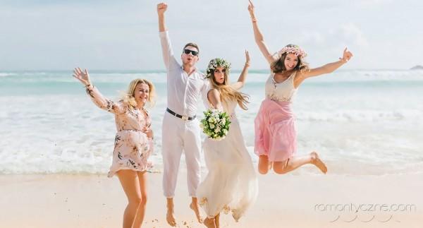 Śluby z gośćmi na plaży