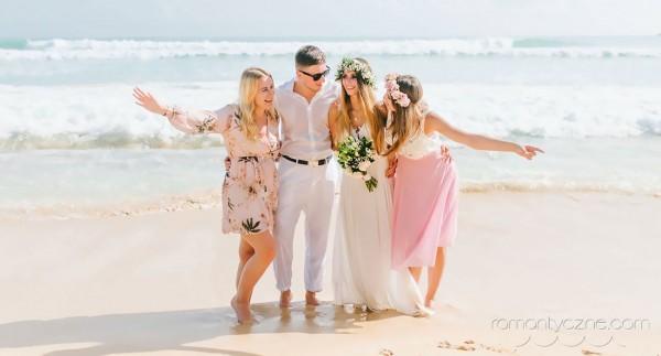 Tropikalne śluby na plaży