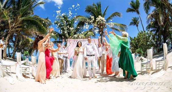 Śluby symboliczne na prywatnej plaży, Karaiby