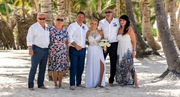 Nieszablonowy ślub Dominikana, wesele z gośćmi