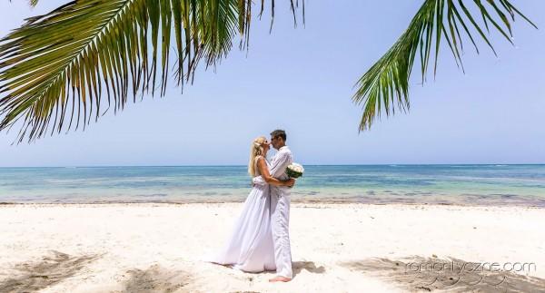 Ceremonia ślubna na prywatnej plaży, wyspa Saona