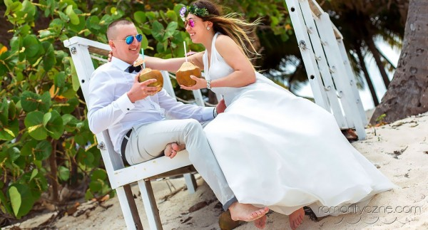 Śluby na prywatnej plaży, tropikalne śluby