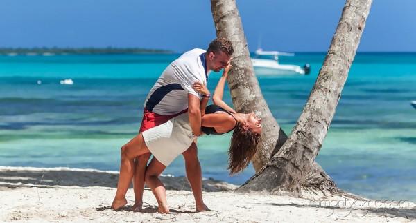 Zaręczyny Saona Island, Dominikana, zagraniczne podróże poślubne