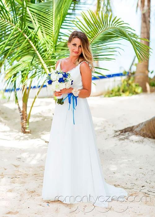 Śluby za granicą na tropikalnej plaży, romantyczne ceremonie