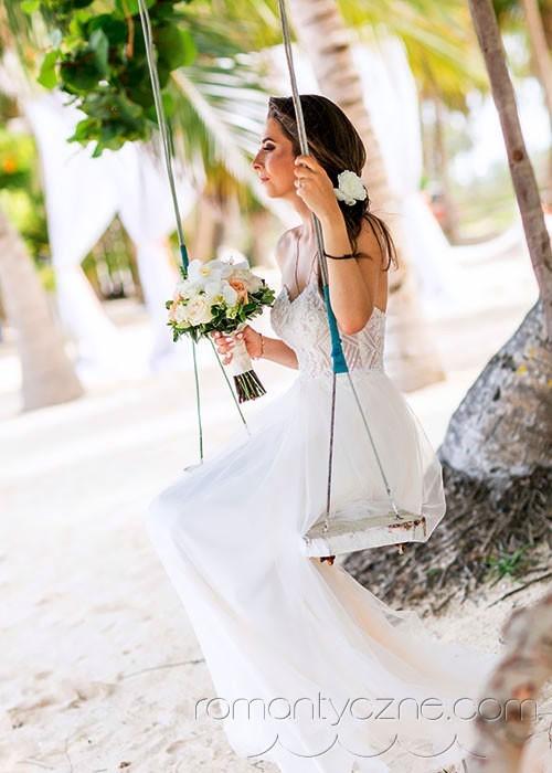 Ceremonia ślubna, na huśtawce