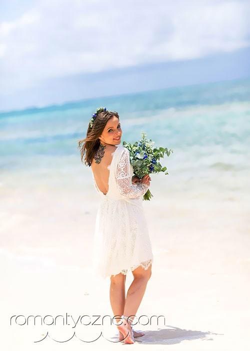 Efektowne suknie ślubne na plażę