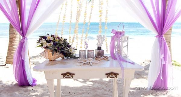 Ceremonie ślubne na dominikańskiej plaży, romantyczne ceremonie