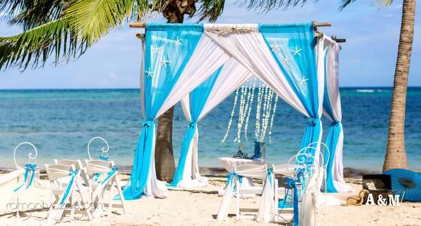 Nieszablonowy ślub na dominikańskiej plaży