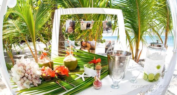 Śluby za granicą na dominikańskiej plaży, zagraniczne podróże poślubne