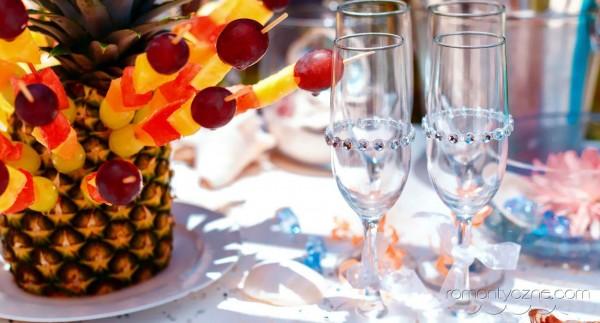 Śluby symboliczne kolacja dla dwojga, Karaiby