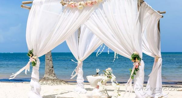 Prywatna plaża, tropikalne śluby na plaży
