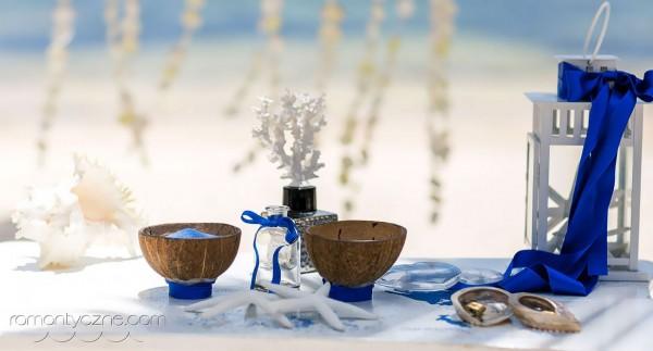 Ceremonia ślubna, przygotowania do uroczystości na plaży