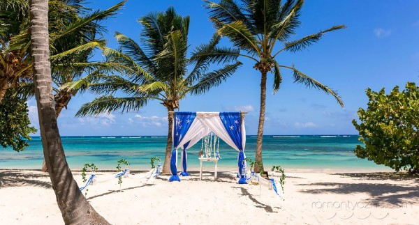 Ślub na prywatnej plaży w karaibskiej atmosferze
