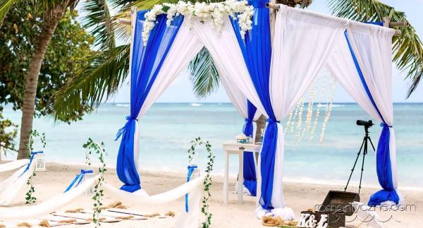 Ślub symboliczny na wyspie Saona