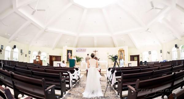 Ślub kościelny ślub karaibski, w kościele