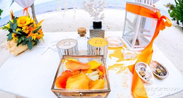 Dekoracje ślubne, karaibska pomarańcza
