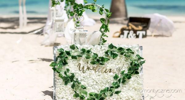 Wspaniałe karaibskie dodatki ślubne