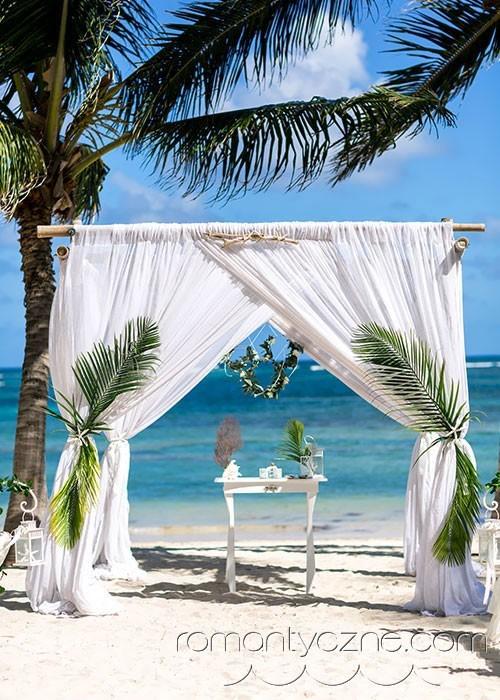Ceremonie ślubne na karaibskiej plaży