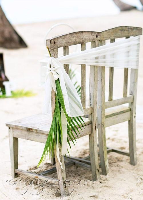 Ślubne dodatki zielone na plaży, Dominikana