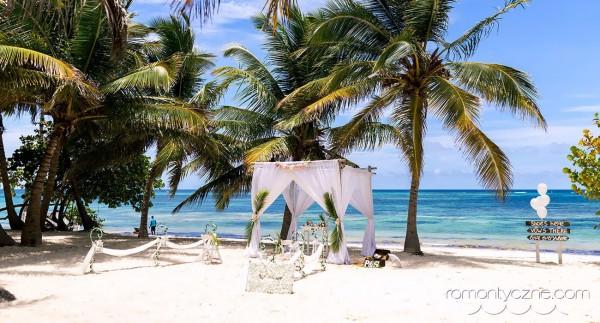 Ślub na prywatnej plaży, Saona Island, Dominikana