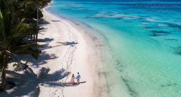Romantyczne chwile na prywatnej plaży